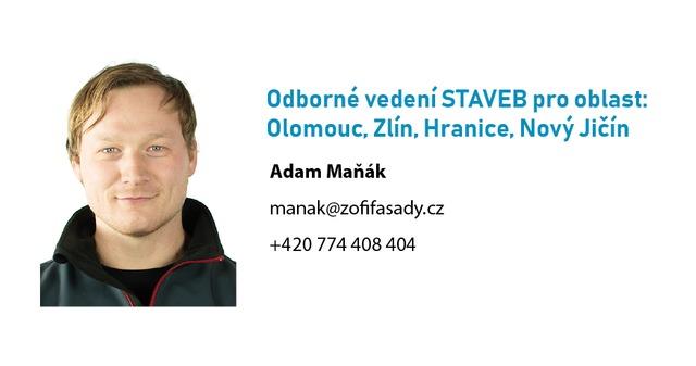 Obrázek 1 pro článek Adam Maňák, nový ZOFI stavební technik pro oblast MORAVA