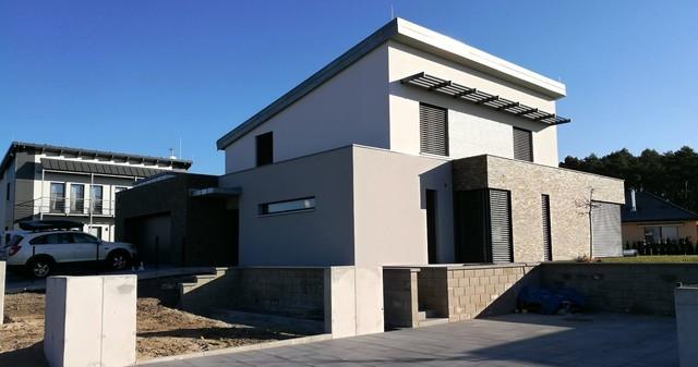 Zateplení fasády nízkoenergetické novostavby RD, Bradlec