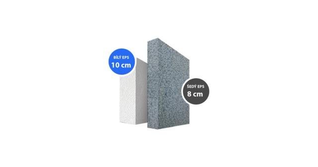 Šedý grafitový fasádní polystyren, v čem je lepší než bílý?
