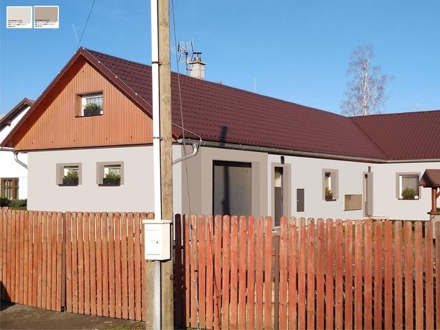 Obrázek 2 pro referenci Grafický návrh fasády rodinného domu v odstínech CERESIT.