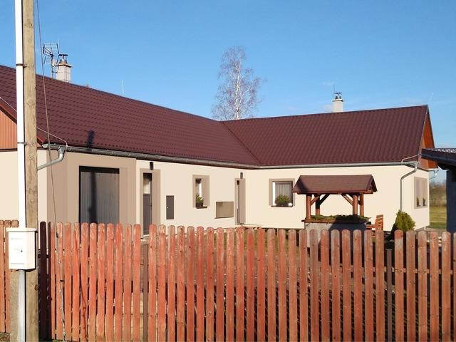 Obrázek 3 pro referenci Grafický návrh fasády rodinného domu v odstínech CERESIT.