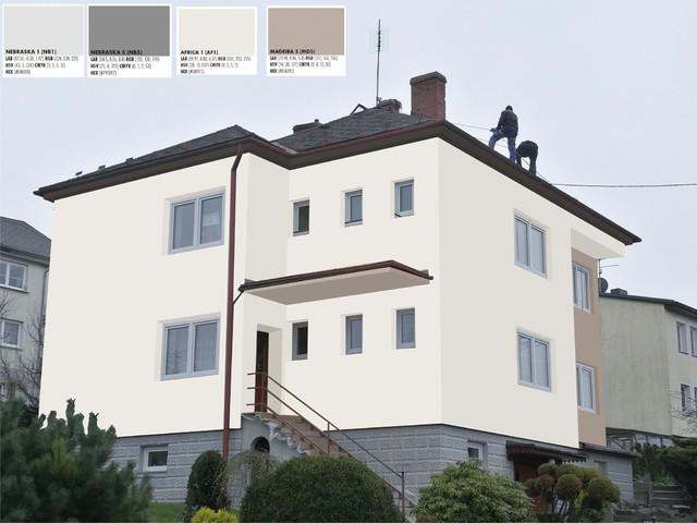 Obrázek 2 pro referenci Grafický návrh fasády RD v hnědých a šedých odstínech CERESIT