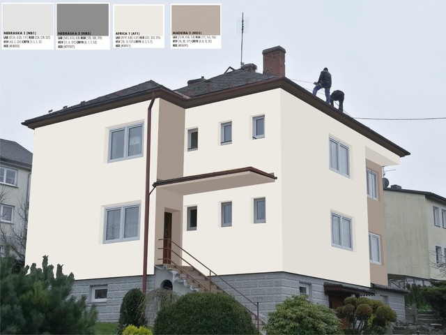 Obrázek 3 pro referenci Grafický návrh fasády RD v hnědých a šedých odstínech CERESIT