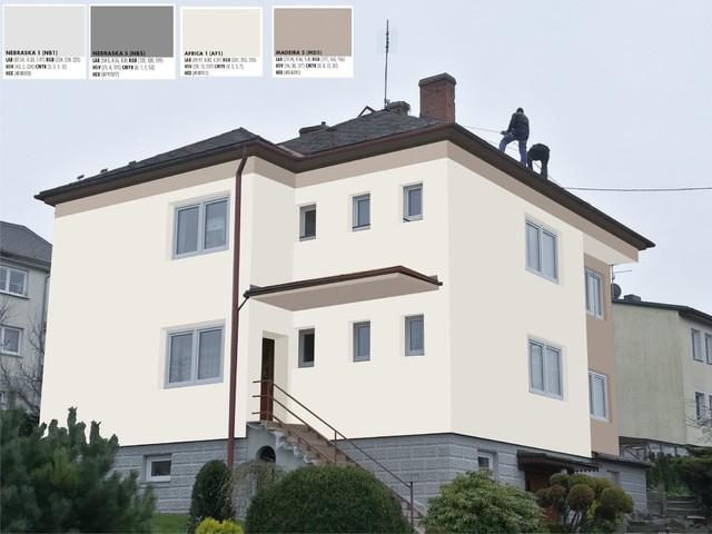 Obrázek 4 pro referenci Grafický návrh fasády RD v hnědých a šedých odstínech CERESIT