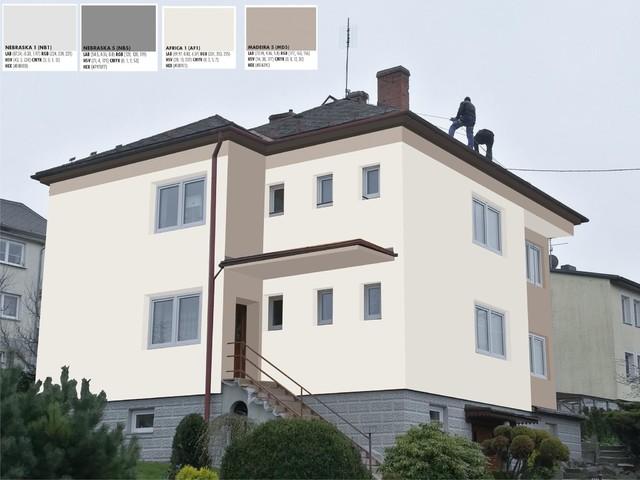 Obrázek 5 pro referenci Grafický návrh fasády RD v hnědých a šedých odstínech CERESIT