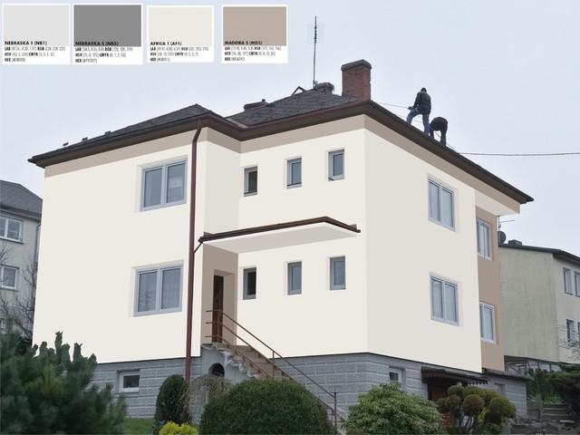 Obrázek 6 pro referenci Grafický návrh fasády RD v hnědých a šedých odstínech CERESIT