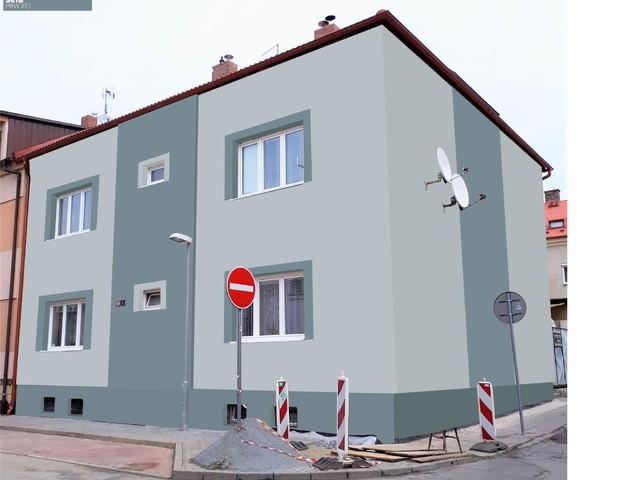 Obrázek 2 pro referenci Grafický návrh fasády bytového domu v odstínech BAUMIT