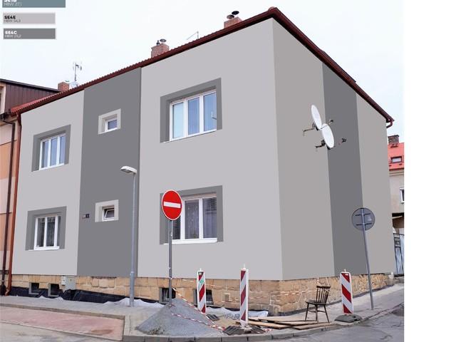 Obrázek 4 pro referenci Grafický návrh fasády bytového domu v odstínech BAUMIT