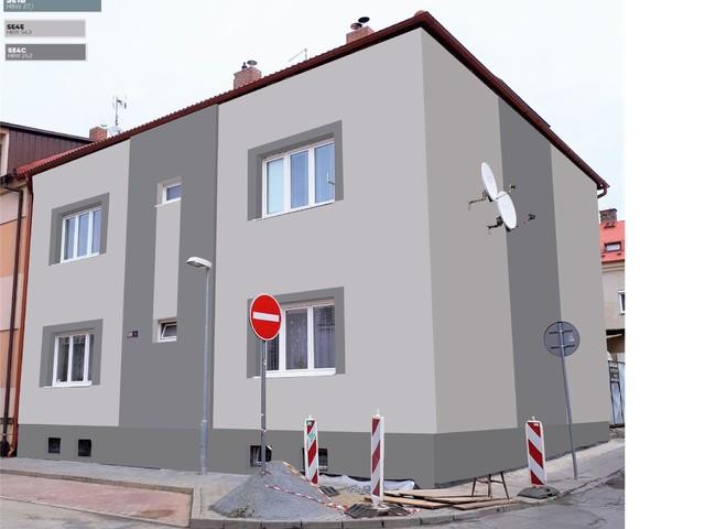 Obrázek 6 pro referenci Grafický návrh fasády bytového domu v odstínech BAUMIT