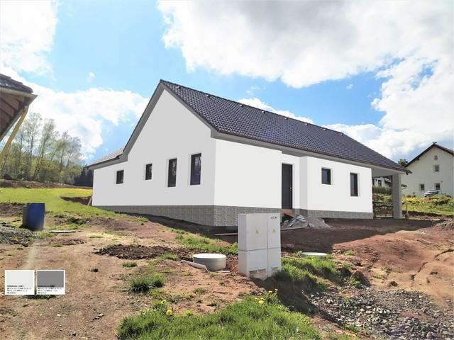 Obrázek 2 pro referenci Grafický návrh fasády novostavby domu s obkladovým kamenem.