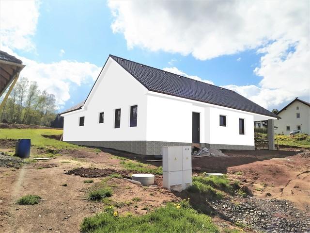 Obrázek 4 pro referenci Grafický návrh fasády novostavby domu s obkladovým kamenem.