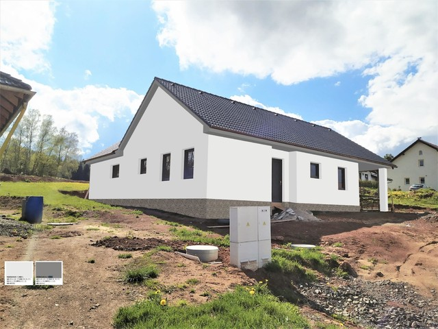 Obrázek 5 pro referenci Grafický návrh fasády novostavby domu s obkladovým kamenem.