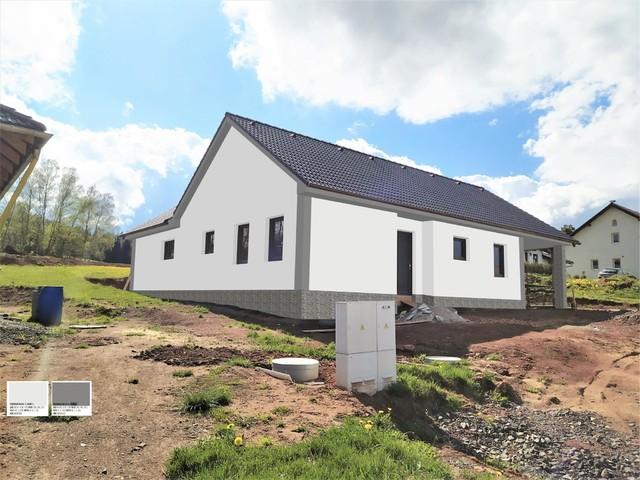 Obrázek 6 pro referenci Grafický návrh fasády novostavby domu s obkladovým kamenem.