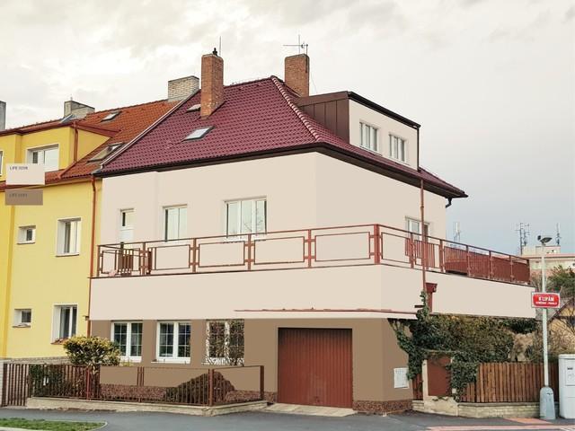 Obrázek 2 pro referenci Grafický návrh fasády staršího rodinného domu v odstínech BAUMIT
