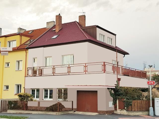 Obrázek 3 pro referenci Grafický návrh fasády staršího rodinného domu v odstínech BAUMIT