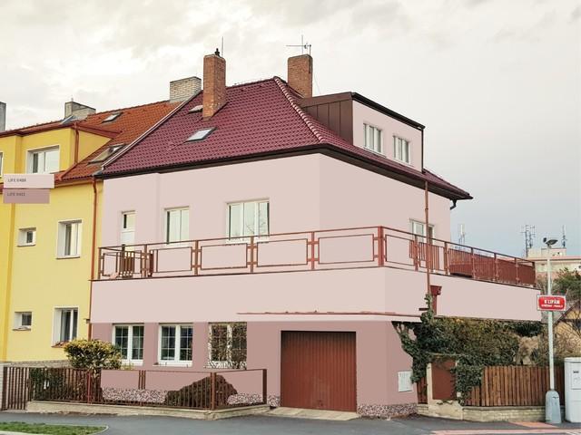 Obrázek 4 pro referenci Grafický návrh fasády staršího rodinného domu v odstínech BAUMIT
