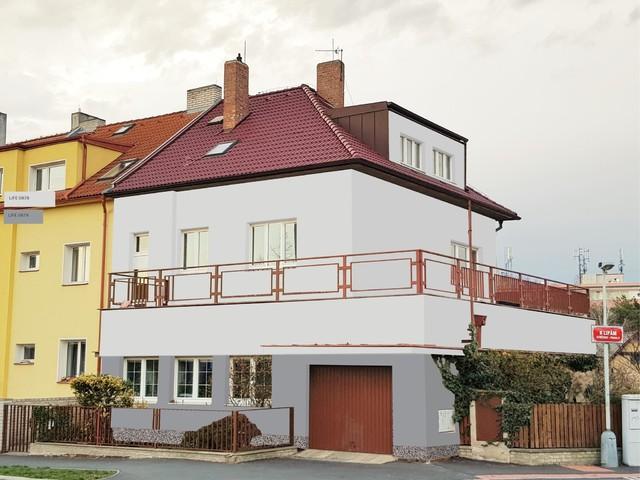 Obrázek 5 pro referenci Grafický návrh fasády staršího rodinného domu v odstínech BAUMIT