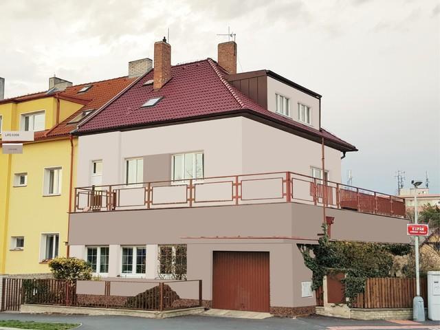 Obrázek 6 pro referenci Grafický návrh fasády staršího rodinného domu v odstínech BAUMIT