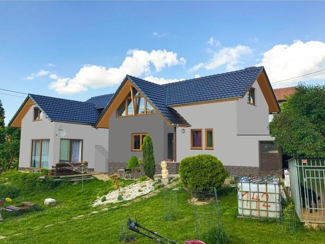 Obrázek 2 pro referenci Grafický návrh zateplení fasády rodinného domu s odstíny CERESIT