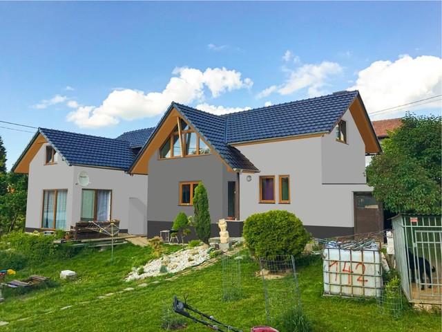 Obrázek 3 pro referenci Grafický návrh zateplení fasády rodinného domu s odstíny CERESIT