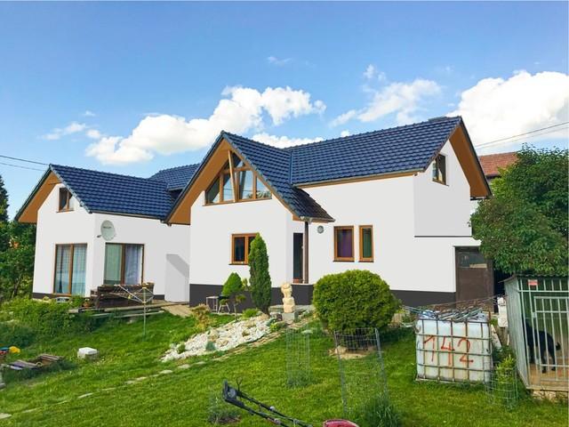 Obrázek 5 pro referenci Grafický návrh zateplení fasády rodinného domu s odstíny CERESIT