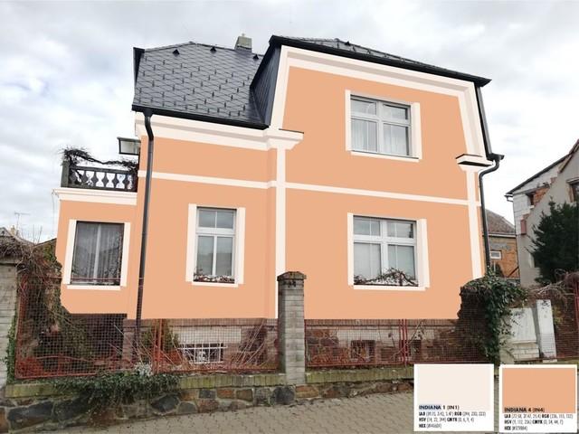 Obrázek 2 pro referenci Grafický návrh fasády historické víly s dekorativním prvkem