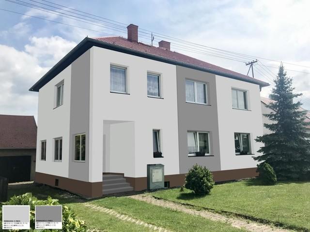 Obrázek 3 pro referenci Grafický návrh fasády staršího rodinného domu v odstínech CERESIT