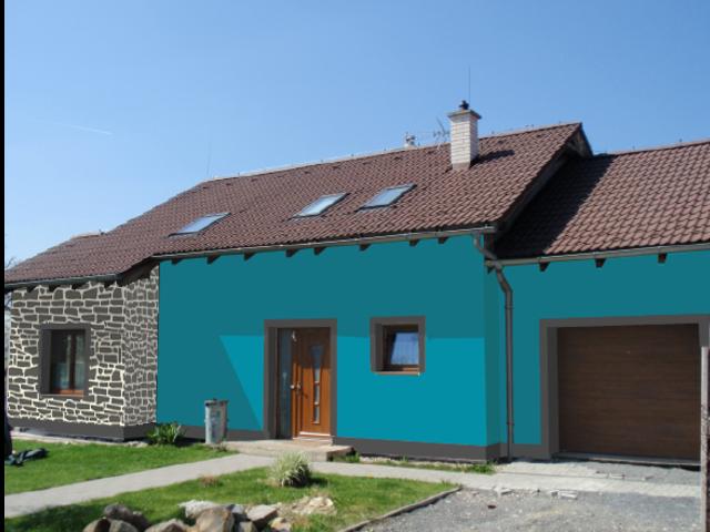 Obrázek 6 pro referenci Grafický návrh fasády RD s dekorativní šablonou CERESIT VISAGE