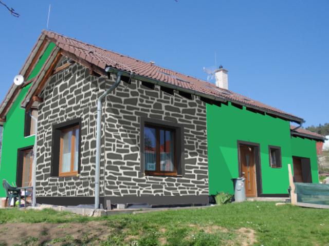 Obrázek 5 pro referenci Grafický návrh fasády RD s dekorativní šablonou CERESIT VISAGE