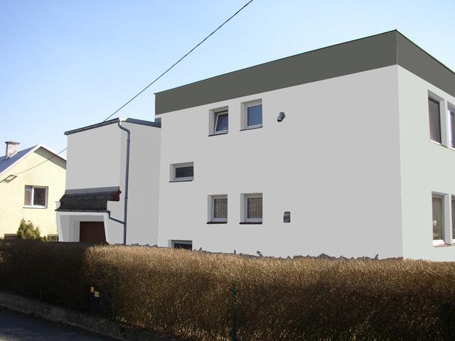 Obrázek 5 pro referenci Grafický návrh fasády RD v šedých odstínech CERESIT
