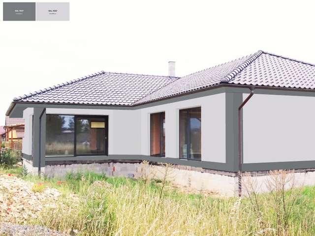 Obrázek 6 pro referenci Grafický návrh fasády novostavby bungalovu s obkladovým páskem