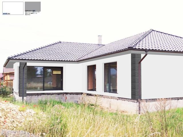 Obrázek 2 pro referenci Grafický návrh fasády novostavby bungalovu s obkladovým páskem