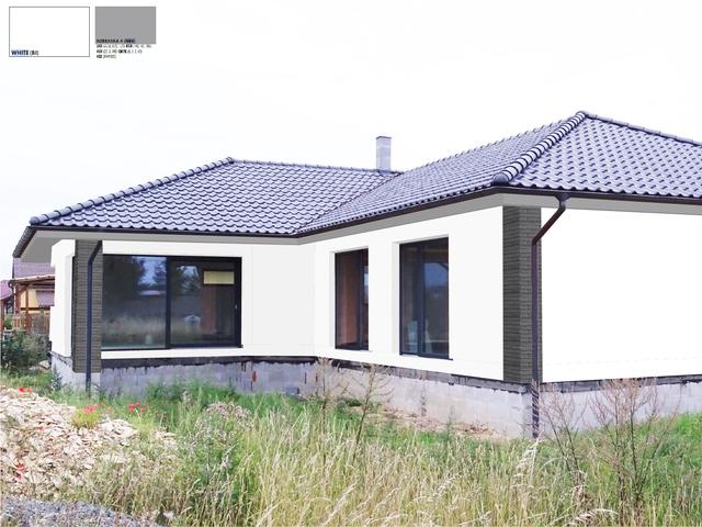 Obrázek 4 pro referenci Grafický návrh fasády novostavby bungalovu s obkladovým páskem