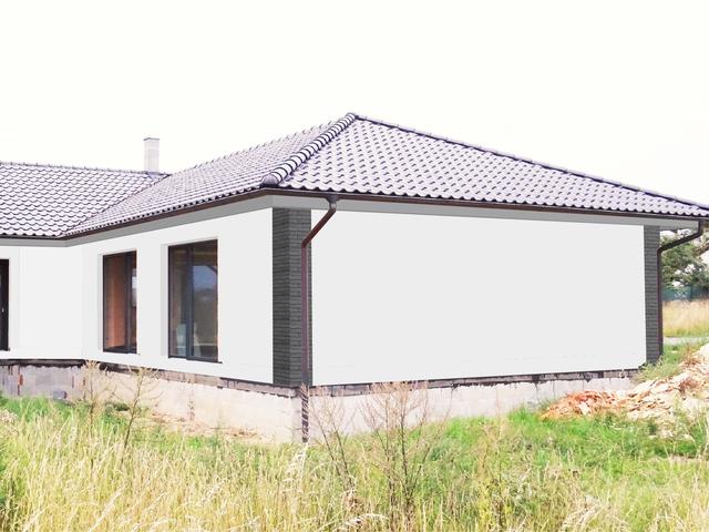 Obrázek 3 pro referenci Grafický návrh fasády novostavby bungalovu s obkladovým páskem