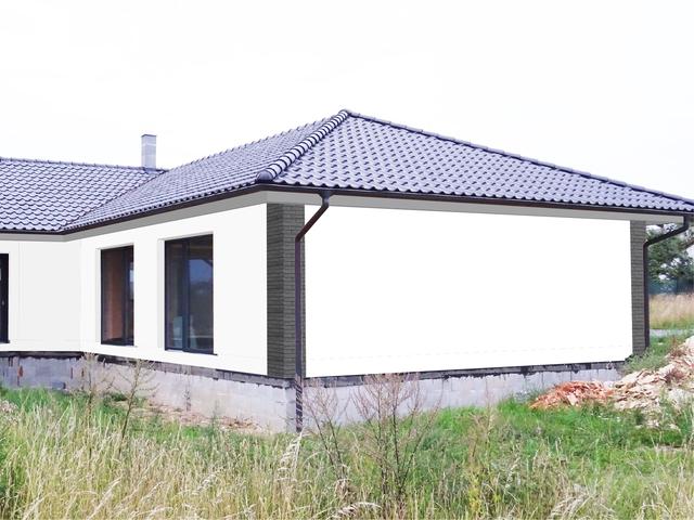 Obrázek 5 pro referenci Grafický návrh fasády novostavby bungalovu s obkladovým páskem
