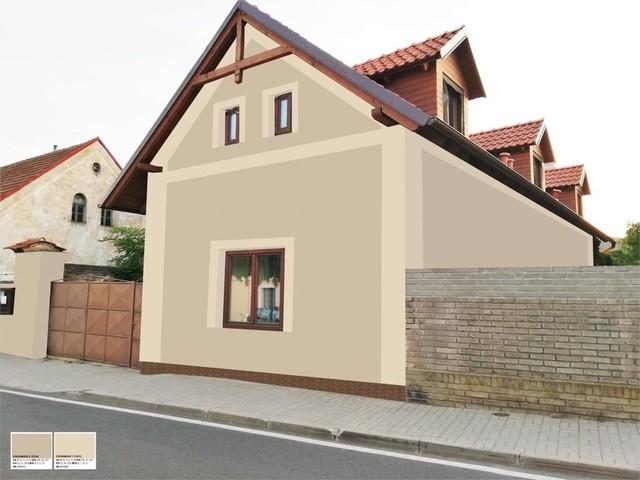 Obrázek 3 pro referenci Grafický návrh fasády RD, šambrány a dekorativní pruhy