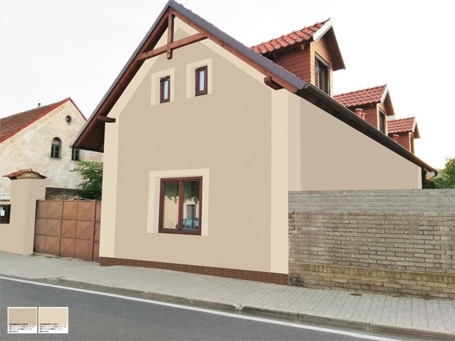 Obrázek 6 pro referenci Grafický návrh fasády RD, šambrány a dekorativní pruhy