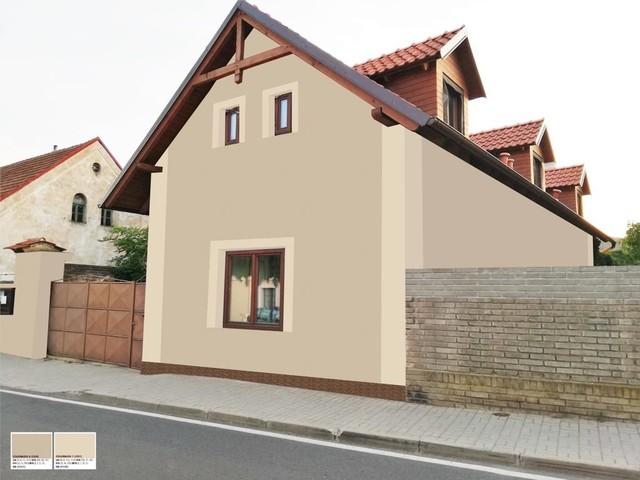 Obrázek 4 pro referenci Grafický návrh fasády RD, šambrány a dekorativní pruhy