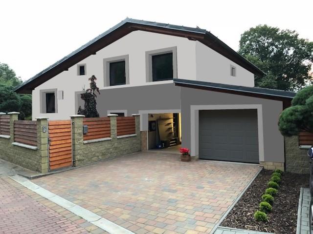 Obrázek 2 pro referenci Grafický návrh rozvržení barevných prvků fasády rodinného domu
