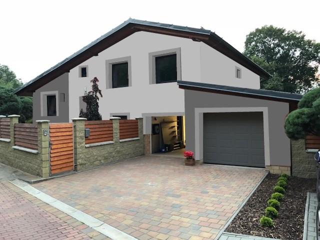 Obrázek 6 pro referenci Grafický návrh rozvržení barevných prvků fasády rodinného domu