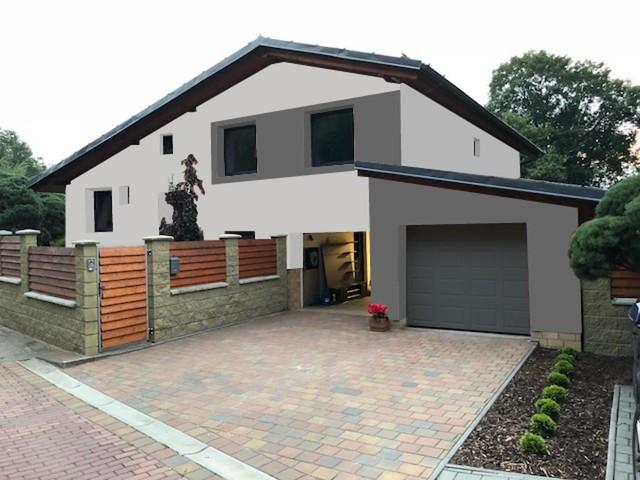 Obrázek 3 pro referenci Grafický návrh rozvržení barevných prvků fasády rodinného domu