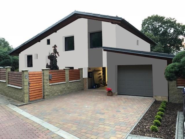 Obrázek 4 pro referenci Grafický návrh rozvržení barevných prvků fasády rodinného domu