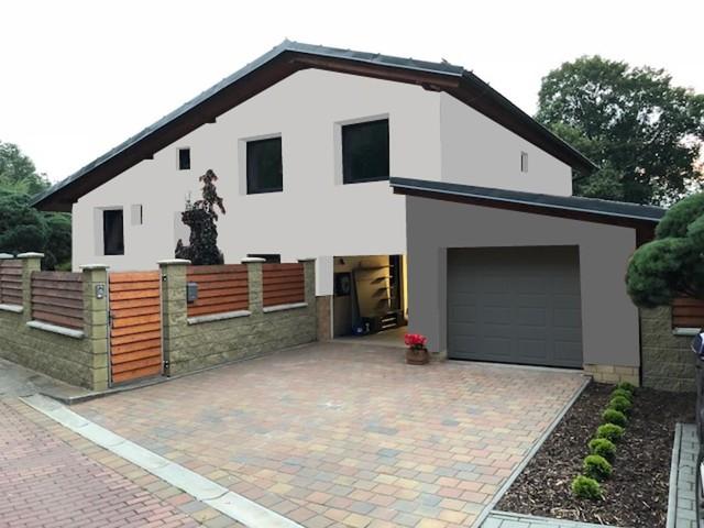 Obrázek 5 pro referenci Grafický návrh rozvržení barevných prvků fasády rodinného domu