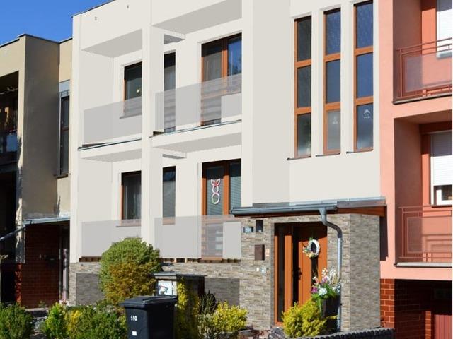 Obrázek 3 pro referenci Grafický návrh fasády s betonovým obkladem na řadovém RD