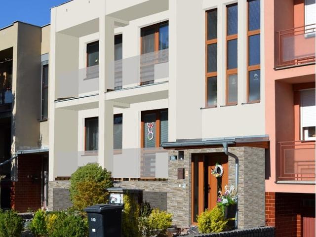 Obrázek 4 pro referenci Grafický návrh fasády s betonovým obkladem na řadovém RD