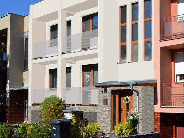 Obrázek 5 pro referenci Grafický návrh fasády s betonovým obkladem na řadovém RD