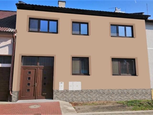 Obrázek 5 pro referenci Grafický návrh fasády staršího RD s betonovým obkladem STEGU