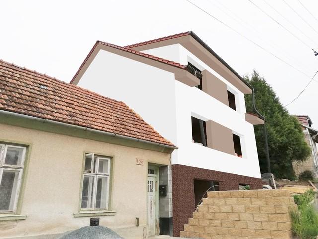 Obrázek 5 pro referenci Grafický návrh fasády hrubé stavby RD v odstínech CERESIT