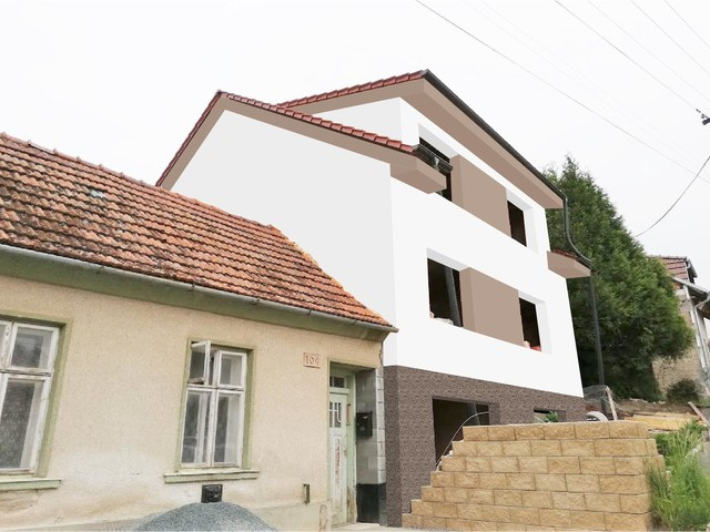 Obrázek 6 pro referenci Grafický návrh fasády hrubé stavby RD v odstínech CERESIT
