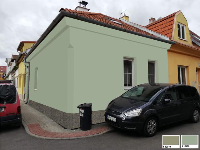 Obrázek 3 pro referenci Grafický návrh fasády rodinného domu v zelených odstínech